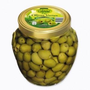 Olives vertes dénoyautées 370ml